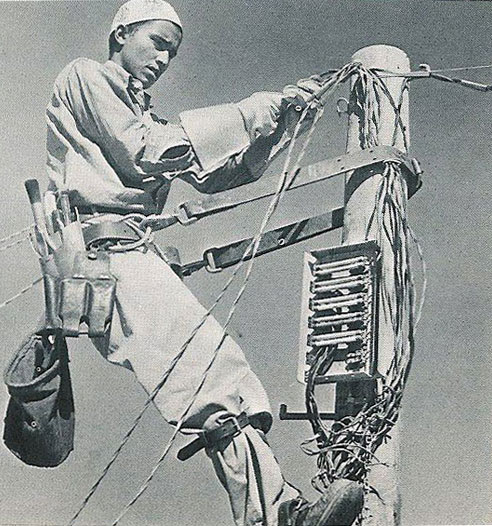 Saudi Arab Telephone Technician