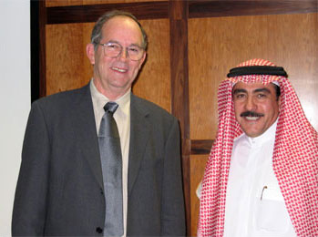Aramco Brat and Annuitant Tim  Barger and Mustafa Jalali