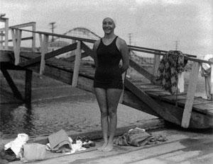 Former Aramcon Florence Chadwick circa 1950
