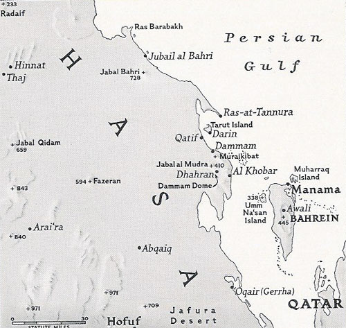 Map of the Hasa Province